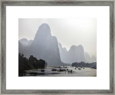 The Li River China Framed Print by Lynn Bolt