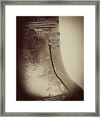 The Liberty Bell Framed Print by Lisa Russo