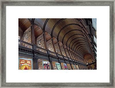 The Library Framed Print by Betsy Knapp
