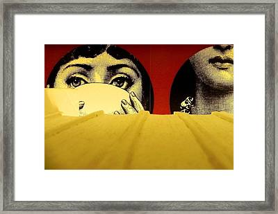 The Library Has Eyes Framed Print