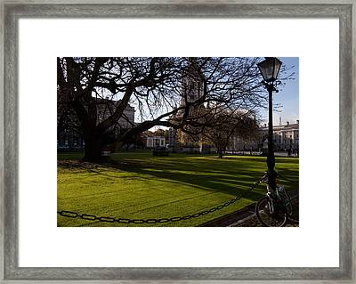 The Library Square, Trinity College Framed Print by Panoramic Images