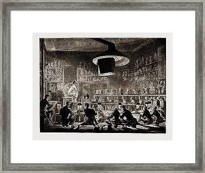 The Life School Of The Academy, Somerset House Framed Print by Litz Collection