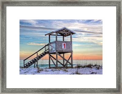 The Lifeguard Stand Framed Print