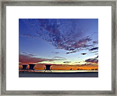 The Lifeguard Towers Framed Print