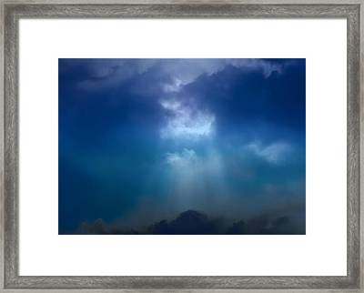 Light Above The Storm Framed Print by Kellice Swaggerty