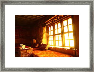 The Light And The Believer's Window Framed Print