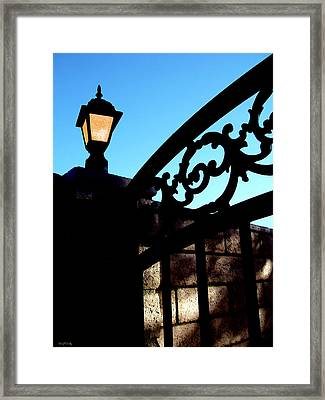 The Light And The Gate Framed Print by Glenn McCarthy Art and Photography