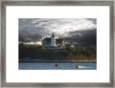 The Light At Nobska Point  Framed Print