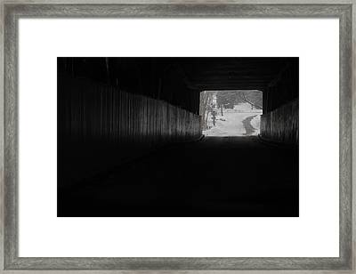 The Light At The End Of The Tunnel Framed Print by Nick Mares