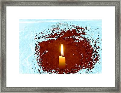 Framed Print featuring the photograph The Light Below by Marwan Khoury