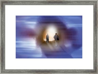 Framed Print featuring the mixed media The Light by Bob Pardue
