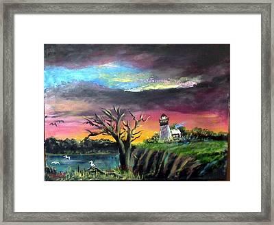 The Light House-3 Framed Print by M bhatt