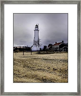 The Light House At Fort Gratiot  Framed Print