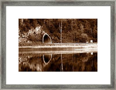 The Light In The End Of The Tunnel Framed Print