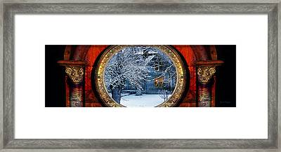The Light In The Window Framed Print by Gunter Nezhoda