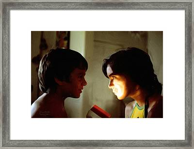 The Light In Their Eyes Framed Print by Spyder Webb