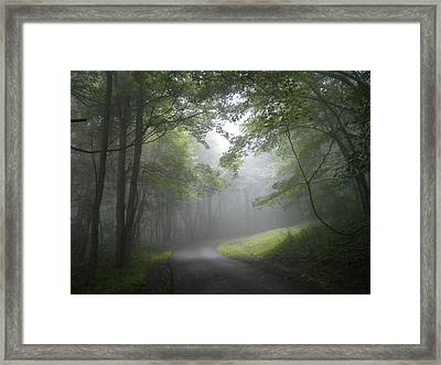 Framed Print featuring the photograph The Light Leading Home  by Diannah Lynch