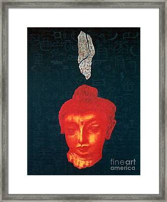 Framed Print featuring the painting The Light Of Face_ Sold by Fei A