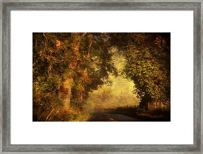 The Light Of The Endless Journey. Scotland Framed Print by Jenny Rainbow