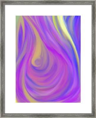 The Light Of The Feminine Ray Framed Print by Daina White