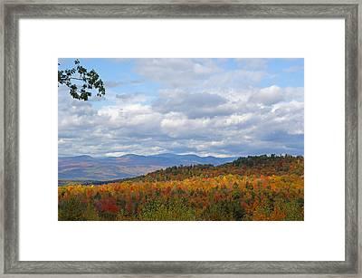 The Light On The Hills Framed Print