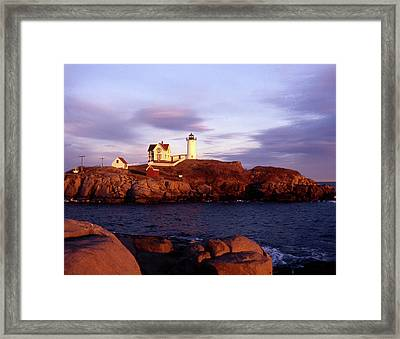 The Light On The Nubble Framed Print by Skip Willits