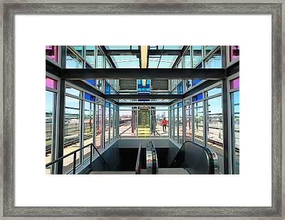 The Light Rail Kid Framed Print by Jim Hughes