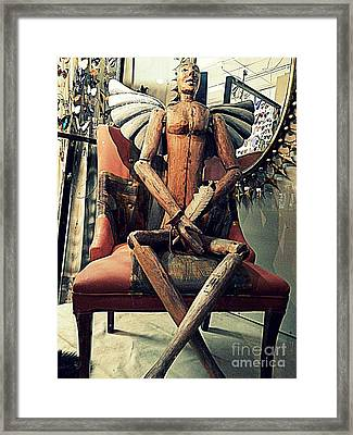 The Light Upon The Metamorphous Of The Blue Morpho Man In New Orleans Louisiana Framed Print by Michael Hoard