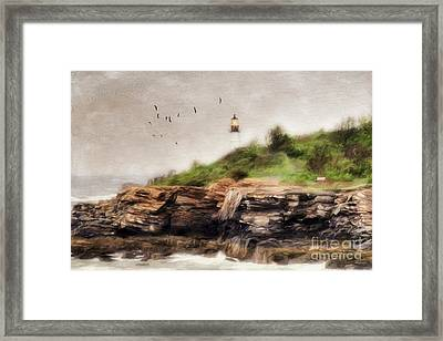 The Light Will Guide You Framed Print by Darren Fisher