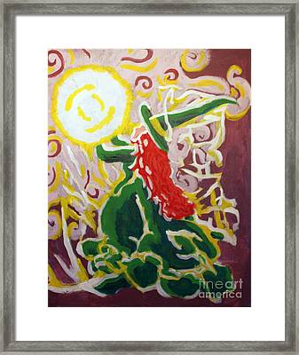 The Lightbringer Framed Print by Wendy Coulson
