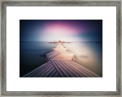 The Lighted Pier. Framed Print