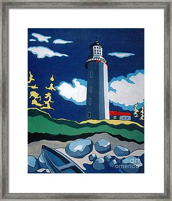 The Lighthhouse Framed Print by Joyce Gebauer
