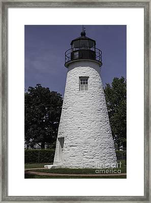 The Lighthouse At Concord Point Framed Print by Arlene Carmel