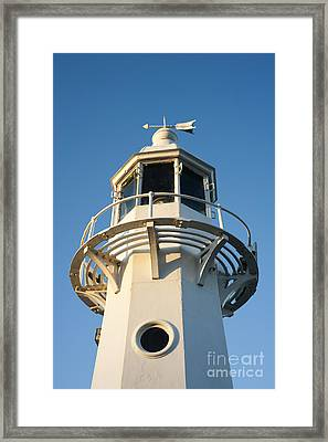 The Lighthouse At Mevagissy Framed Print