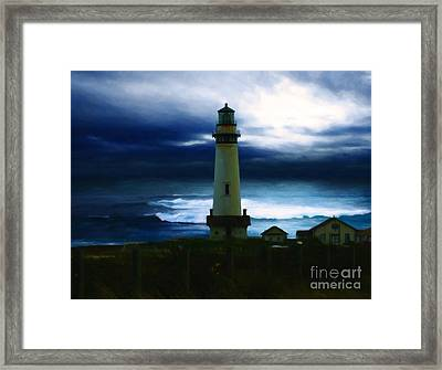 The Lighthouse Framed Print by Cinema Photography