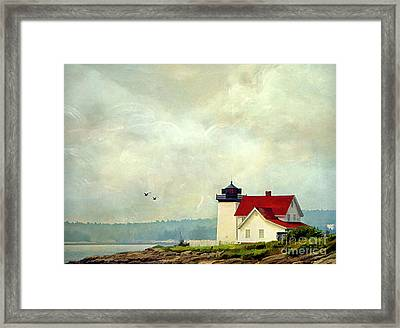 The Lighthouse Framed Print by Darren Fisher