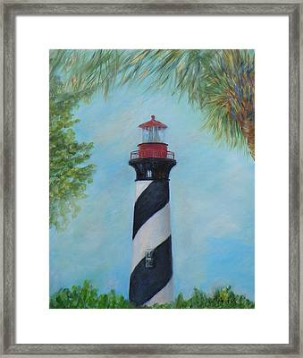 The Lighthouse In St. Augustine Florida Framed Print
