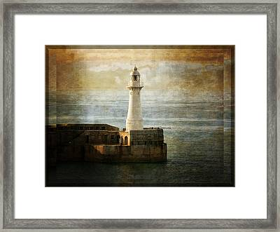 The Lighthouse Framed Print by Lucinda Walter