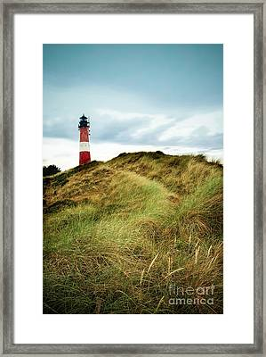 the lighthouse of Hoernum Framed Print by Hannes Cmarits