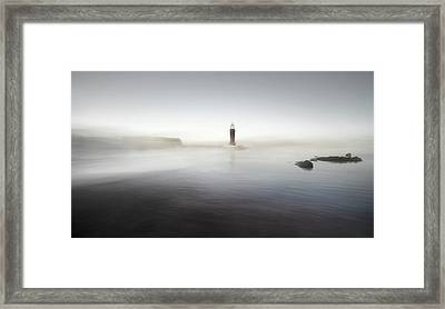 The Lighthouse Of Nowhere Framed Print by Santiago Pascual Buye