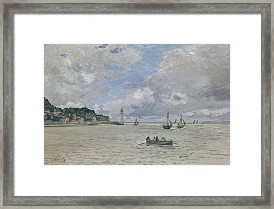 The Lighthouse Of The Hospice Honfleur, 1864  Framed Print