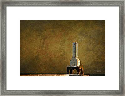 The Lighthouse - Port Washington Framed Print by Mary Machare