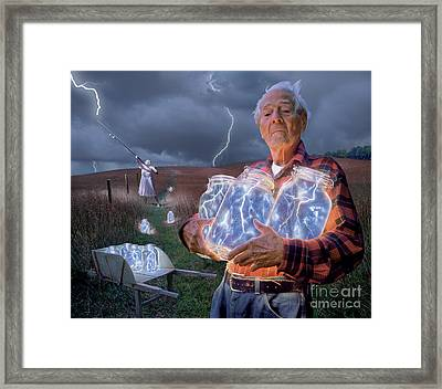 The Lightning Catchers Framed Print by Bryan Allen