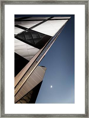The Lightning Crystal And The Moon Framed Print