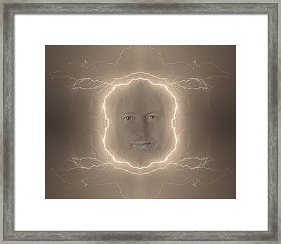 The Lightning Man Sepia Framed Print by James BO  Insogna