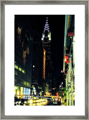 The Lights Of New York City Framed Print by Dan Sproul