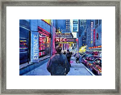 The Lights Of The City Framed Print by Spencer Meagher