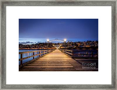 The Lights Of White Rock Beach - By Sabine Edrissi Framed Print