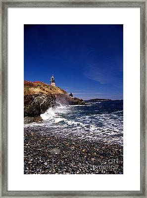 The Ligthouse At West Quoddy Framed Print by Skip Willits