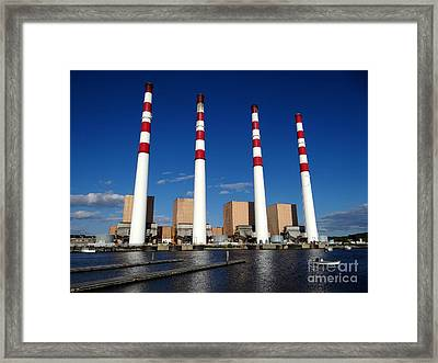 Framed Print featuring the photograph The Lilco Towers by Ed Weidman